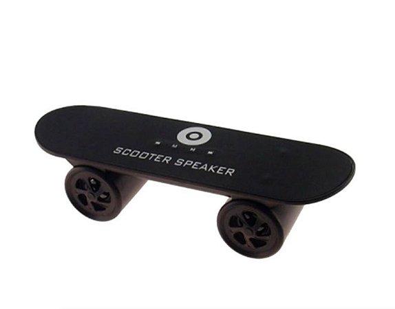 Mini rádio com entrada USB Skate Preto