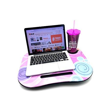 Bandeja Multi-Uso para Notebook com suporte para copo