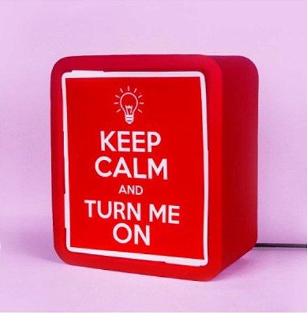 Luminária Lightbox - Keep Calm
