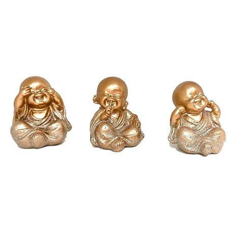 Mini trio Monge dourado - Não ouço, Não falo, Não vejo.