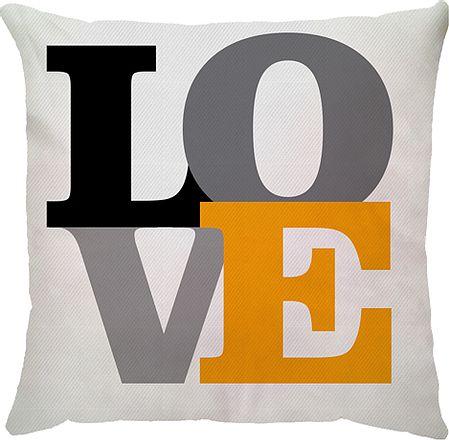 Capa de Almofada Love Amarela