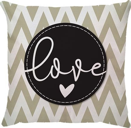 Capa de Almofada bege Love