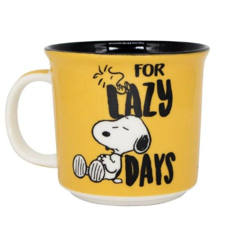 Caneca Snoopy amarela