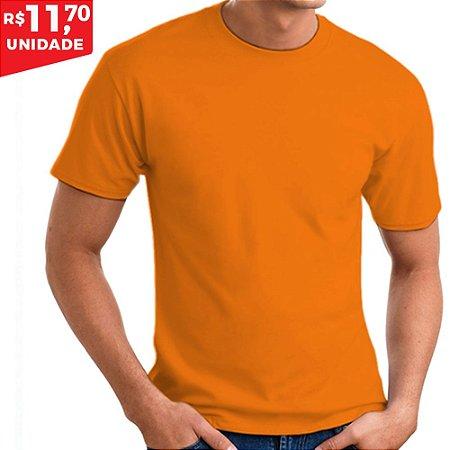 KIT 05 PEÇAS - Camiseta 100% algodão penteado laranja