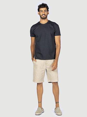 Camiseta 100% algodão penteado preto