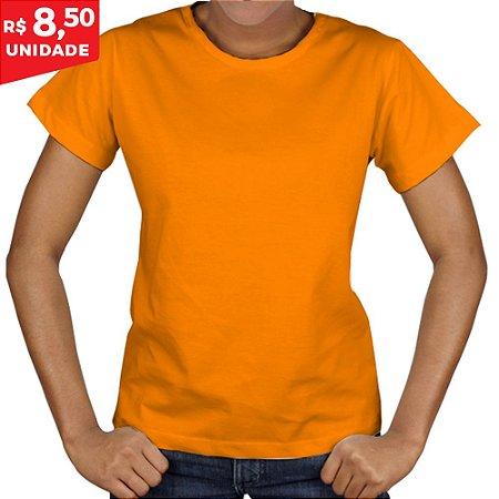 KIT 05 PEÇAS - Baby Look Malha PP laranja