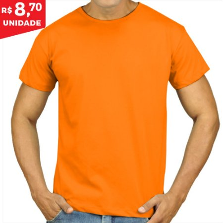 KIT 05 PEÇAS - Camiseta Malha PP laranja