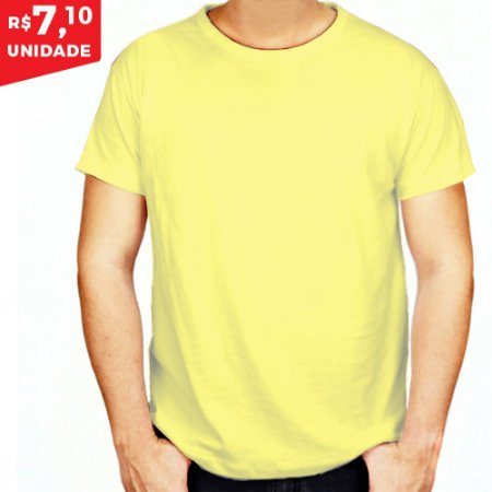 KIT 05 PEÇAS - Camiseta poliéster amarelo bebê