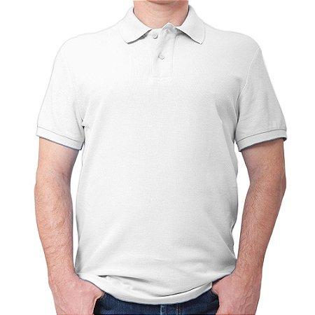 Polo masculina piqué branca