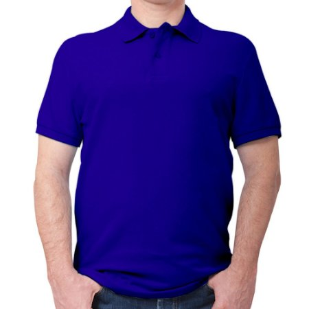 Polo masculina piqué azul royal