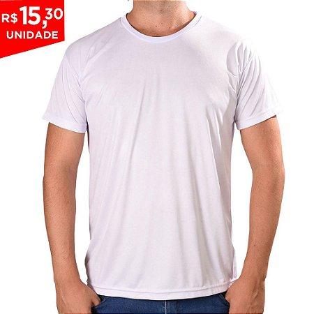 KIT 05 PEÇAS - Camiseta Básica Dry Fit Branco