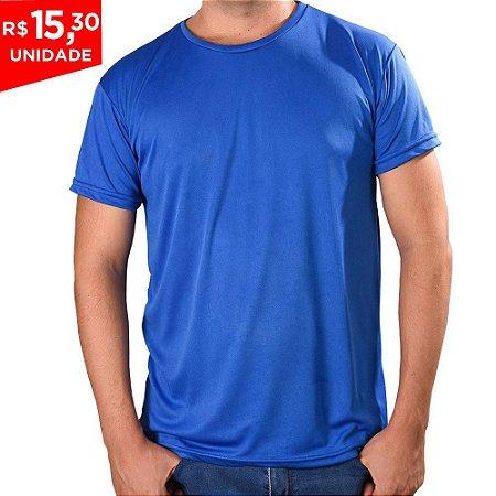 KIT 05 PEÇAS - Camiseta Básica Dry Fit Azul Royal