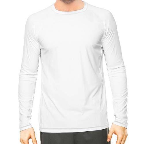 Camisa Uv Branca Fator 50+ Com Proteção Solar Masculina