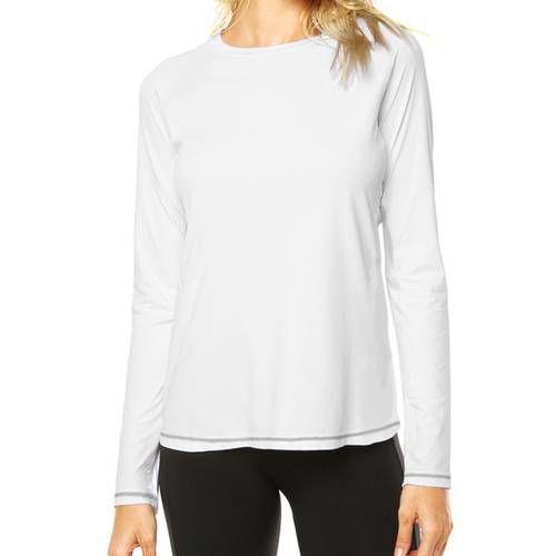 Camisa Uv Branca Fator 50+ Com Proteção Solar Feminina