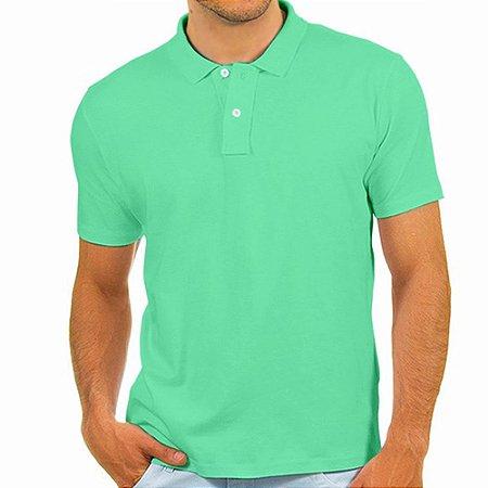 Polo masculina Malha PP verde bebê