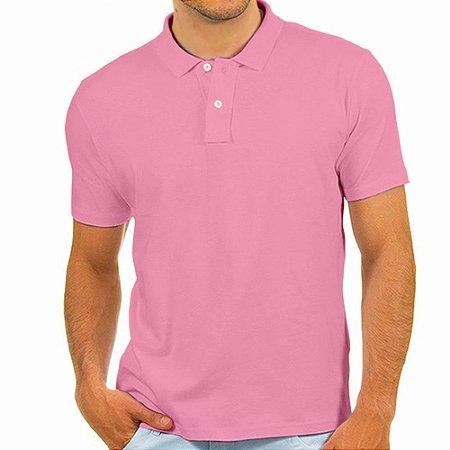 Polo masculina Malha PP rosa bebê