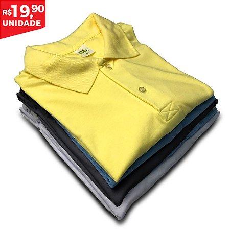 KIT 05 PEÇAS  -  Camisa Polo PP Masculino Cores Sortidas