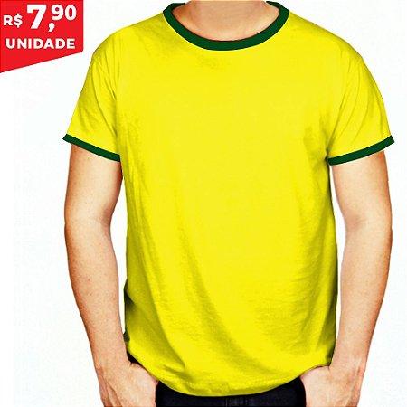 KIT 10 PEÇAS - Camiseta básica helanquinha brasil
