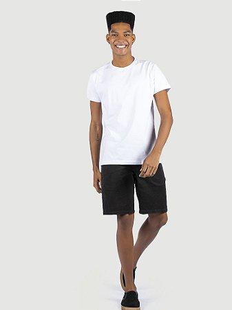 KIT 05 PEÇAS - Camiseta malha Premium 100% algodão penteado branco