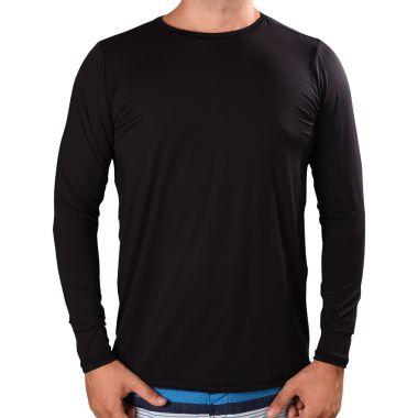 Kit 03 peças - Camisa UV Fator 50+ com Proteção Solar Preta