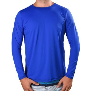 Kit 03 peças - Camisa UV Fator 50+ com Proteção Solar Azul Royal