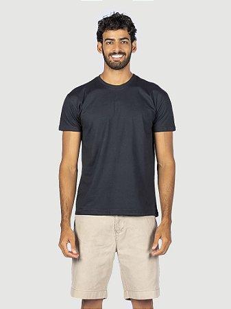 KIT 05 PEÇAS - Camiseta malha 100% algodão penteado preto
