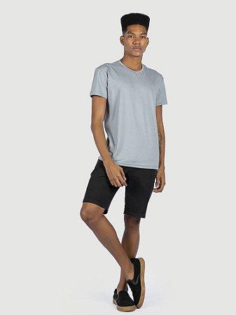 Camiseta 100% algodão penteado cinza