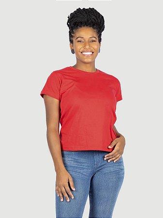 KIT 05 PEÇAS - Baby look 100% algodão penteado vermelha