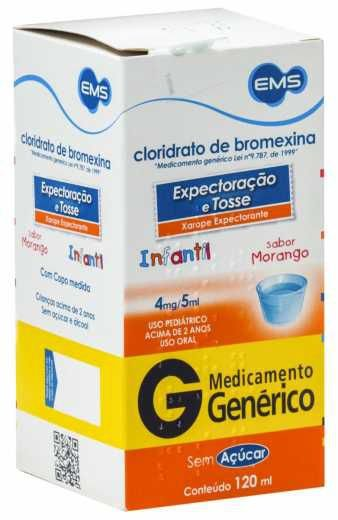 BROMEXINA 4MG/5ML XAROPE INFANTIL 120ML  (VENC: 30/06/2021)