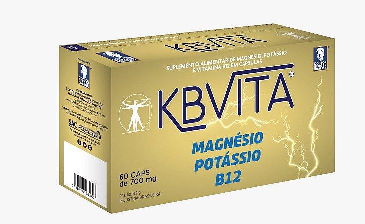 MAGNESIO POTÁSSIO + VITAMINA B12 C/ 60 cápsulas (KBVita 700 mg)