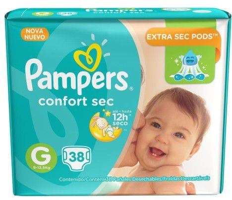 FRALDA PAMPERS  TOTAL CONFORT G C/38 Fraldas