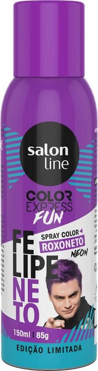 Color Express Fun Spray Color Felipe Neto 150 ml Roxo