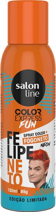 Color Express Fun Spray Color Felipe Neto 150 ml Laranja