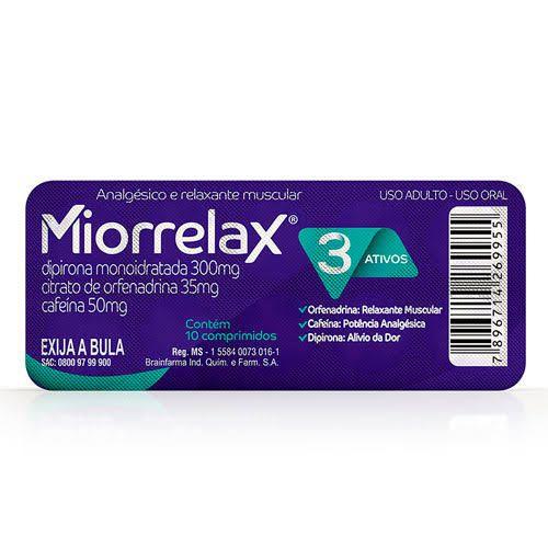 Miorrelax 10 Comprimidos