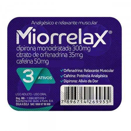 Miorrelax 4 Comprimidos