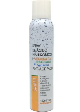 Água Termal Anti Age Facial + Vitamina C + Àcido Hialurônico 150 ml Samui