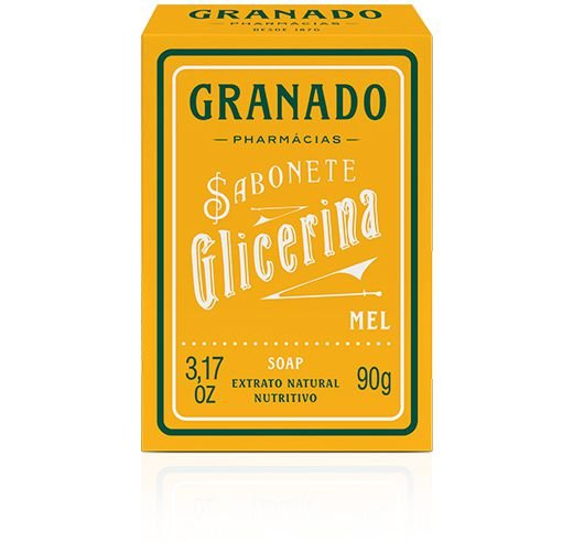 SABONETE GLICERINA GRANADO MEL 90 GRS
