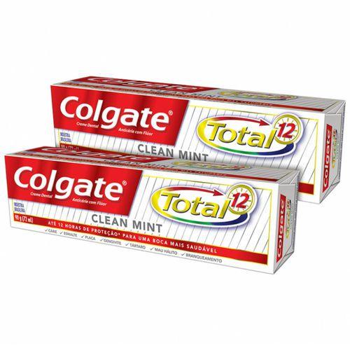COLGATE CREME DENTAL  TOTAL 12  - 2UN