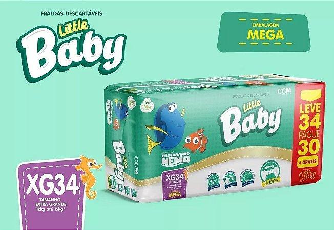 FRALDA LITTLE BABY NEMO MEGA XG L34P30