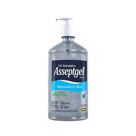 ALCOOL GEL 70% ASSEPTGEL 420 GRS - Com Extrato De Aloe Vera