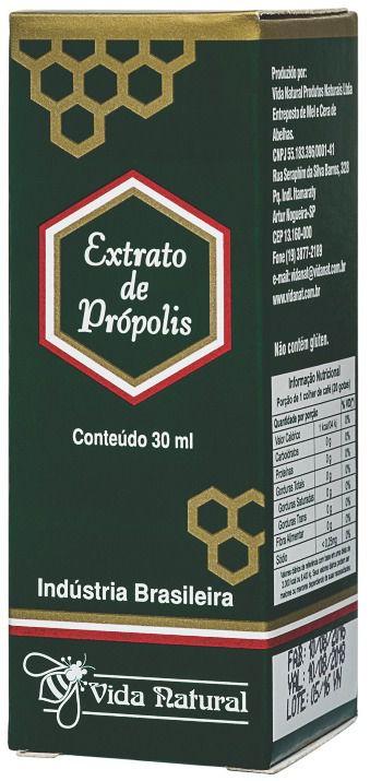 EXTRATO DE PROPOLIS 30 ML VIDA NATURAL