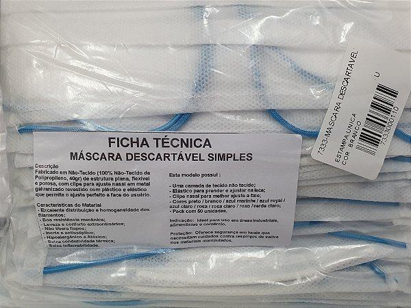 MASCARAS DESCARTAVEIS EM TNT PACOTE C/50 UNID