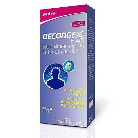 DECONGEX PLUS 12+15MG CX 12 COMP