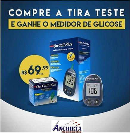 ON CALL PLUS CAIXA C/25 TIRAS +  MONITOR DE GLICEMIA