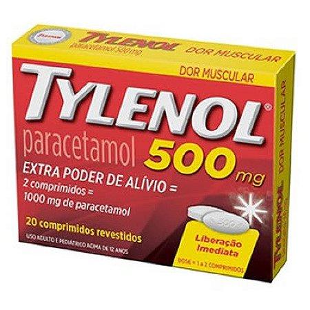 TYLENOL 500 MG COM 20 COMPRIMIDOS
