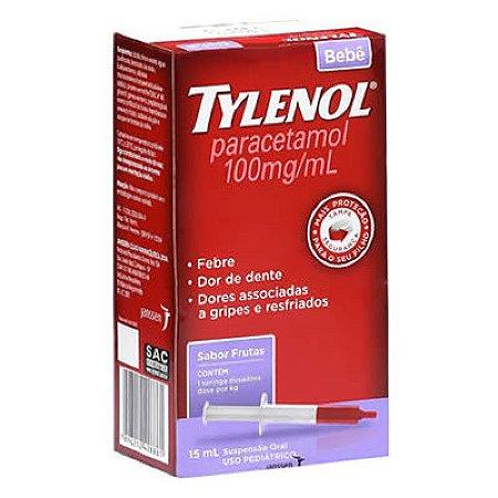 TYLENOL BEBE 100MG/ML COM 15 ML