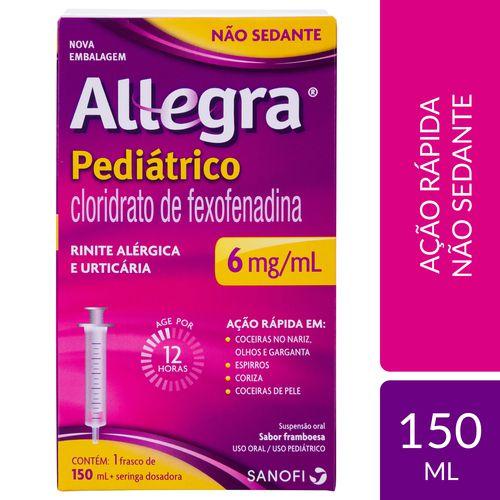 ANTIALÉRGICO ALLEGRA PEDIÁTRICO 150ML