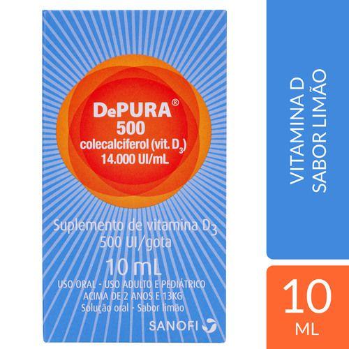VITAMINA D DEPURA 500 UI GOTAS 10ML