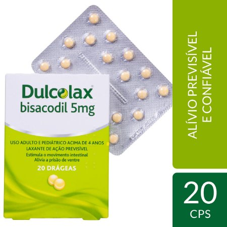 DULCOLAX 5MG CX 20 DRG