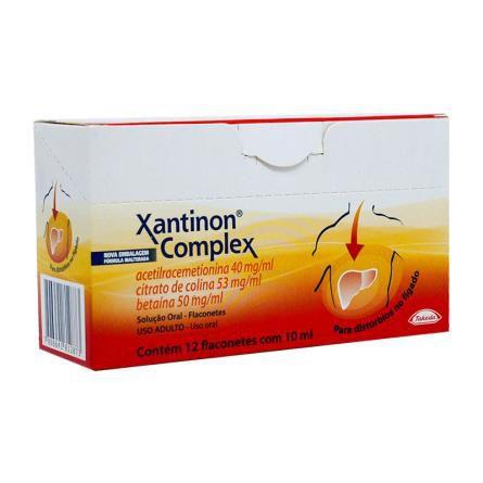 XANTINON COMPLEX 12 FLACONETES 10 ML